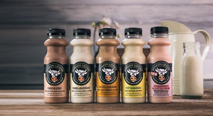 Shaken Udder milkshake range